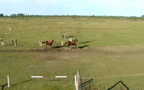 Video: Dos jinetes internados tras accidente en carrera de caballos