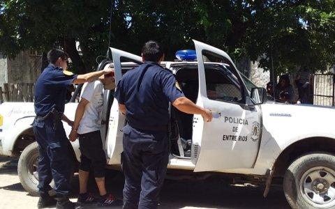 Doble allanamiento y detención en Gualeguaychú
