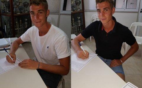 Los mellizos Alfaro firmaron contrato en Juventud Unida
