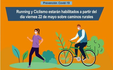 Larroque habilitó el running y el ciclismo en caminos rurales