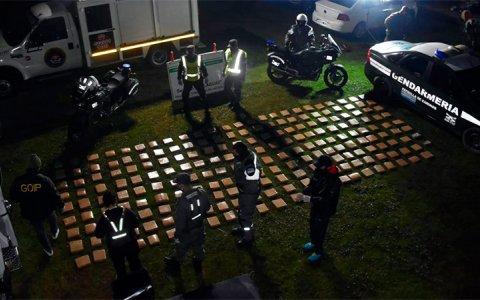 Ruta 14: Gendarmería secuestró 233 kg de marihuana