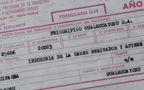 Frigorífico Gualeguaychú: Hay documentación disponible para la certificación de haberes a ex trabajadores