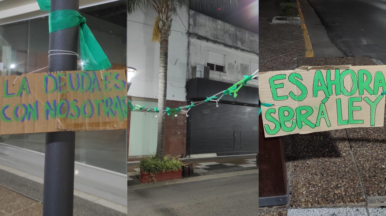 Aborto legal: Feministas intervinieron en el centro de Gualeguaychú