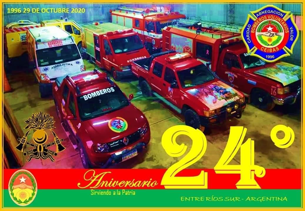El Cuartel de Bomberos de Ceibas cumple 24 años