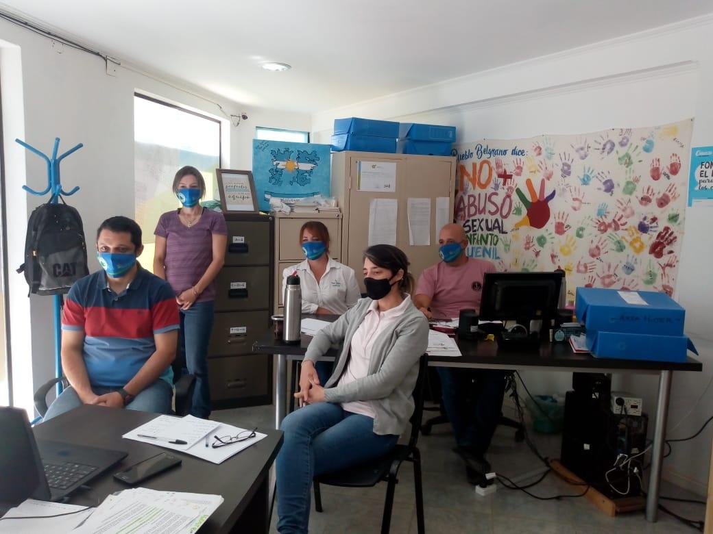 Personal municipal de Pueblo Belgrano se capacitó en medidas de bioseguridad COVID-19