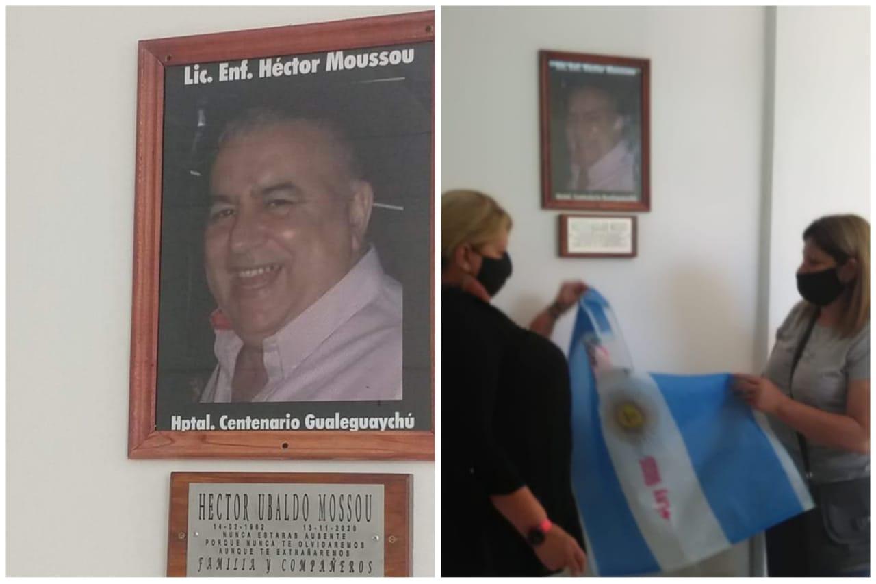 El Hospital Centenario homenajeó a Héctor Moussou