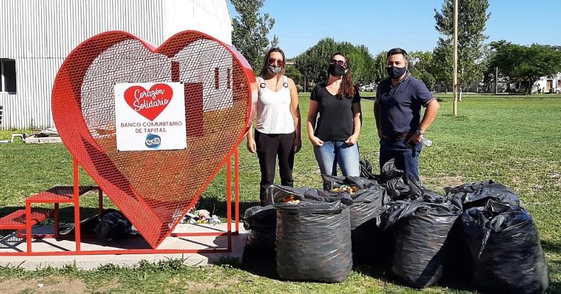 Larroque llenó de tapitas el primer Corazón Solidario