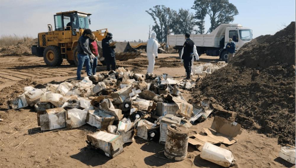 Megaempresa enterró 400 bidones de glifosato y agrotóxicos
