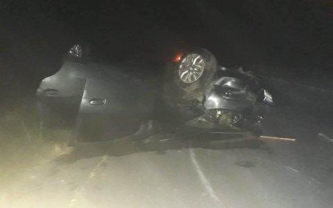 Ruta 14: Impactante vuelco de un vehículo