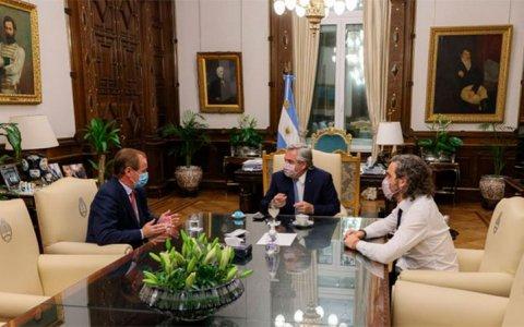 Bordet se reunió con el Presidente Alberto Fernández