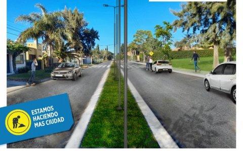 La Municipalidad avanza con la obra del Boulevard Florida