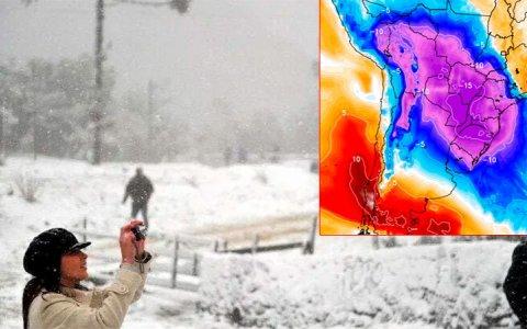 Pronostican ola polar histórica en Brasil que repercutiría en Argentina