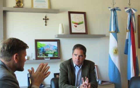 Articulación Municipalidad de Larroque y el Instituto Becario Provincial